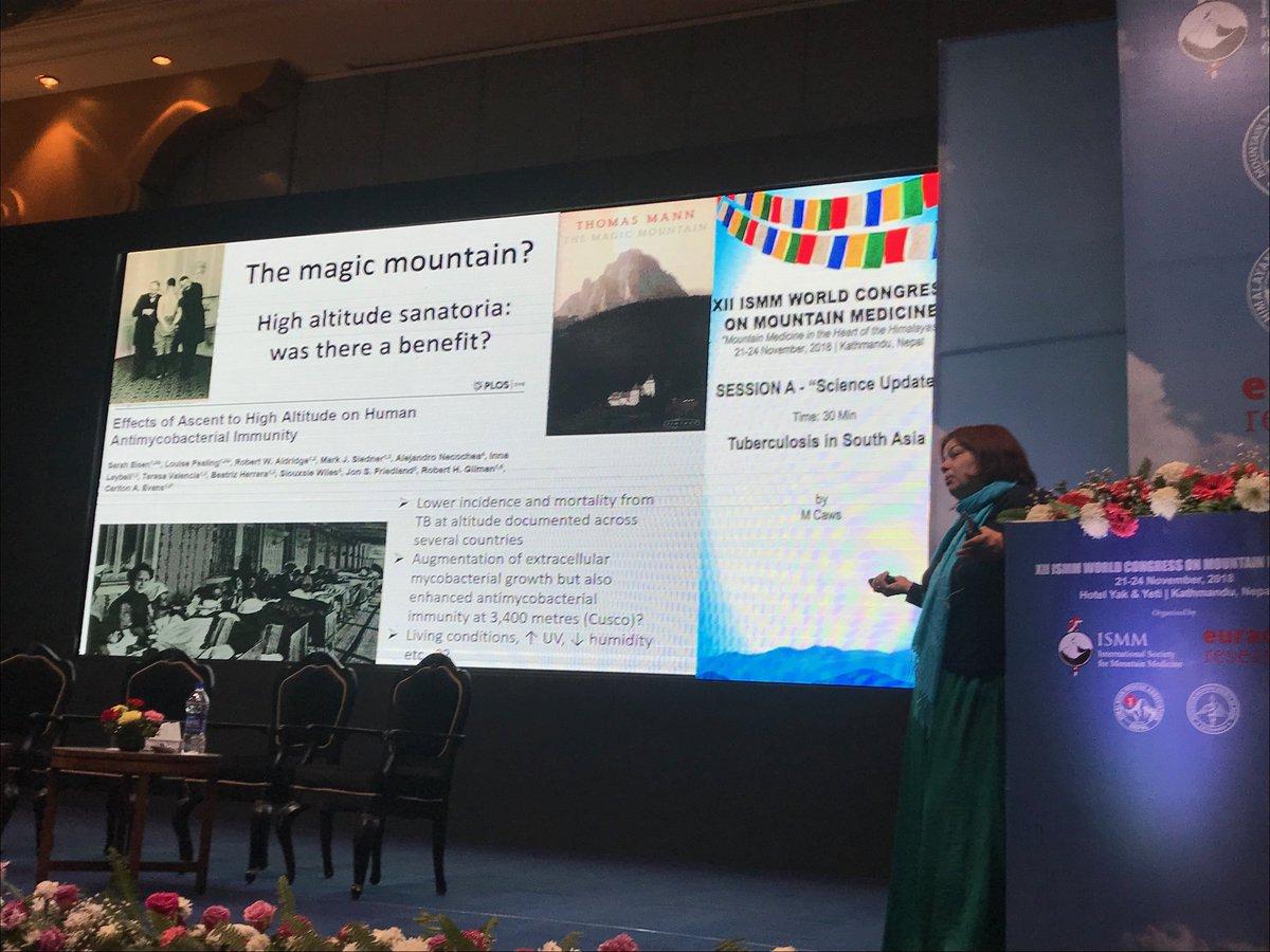 Principle Investigator, Dr Maxine Caws talks at the ISMM Congress on Mountain Medicine, Kathmandu